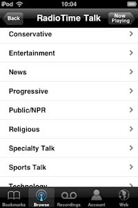TuneIn Radio for iPhone and iPod Touch