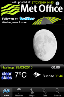 met office weather app a super front interface