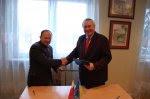 підписання угоди про співпрацю між містами Челядзь та Жидачів