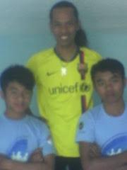 Foto kangen antar Tim Bola SMP PUI dgn Tim Bintang Ronaldowati di Stadion PERSIMA Mjl Th 2008