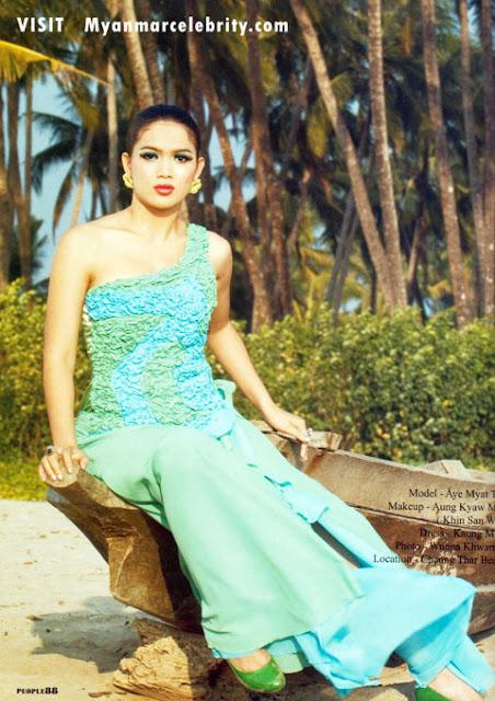 Myanmar Model Aye Myat Thu - Artistry Cosmetic and Art
