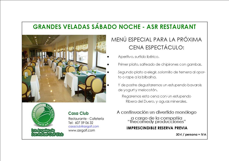 Centro de negocios asr veladas s bado noche casa club for Oficina virtual economica