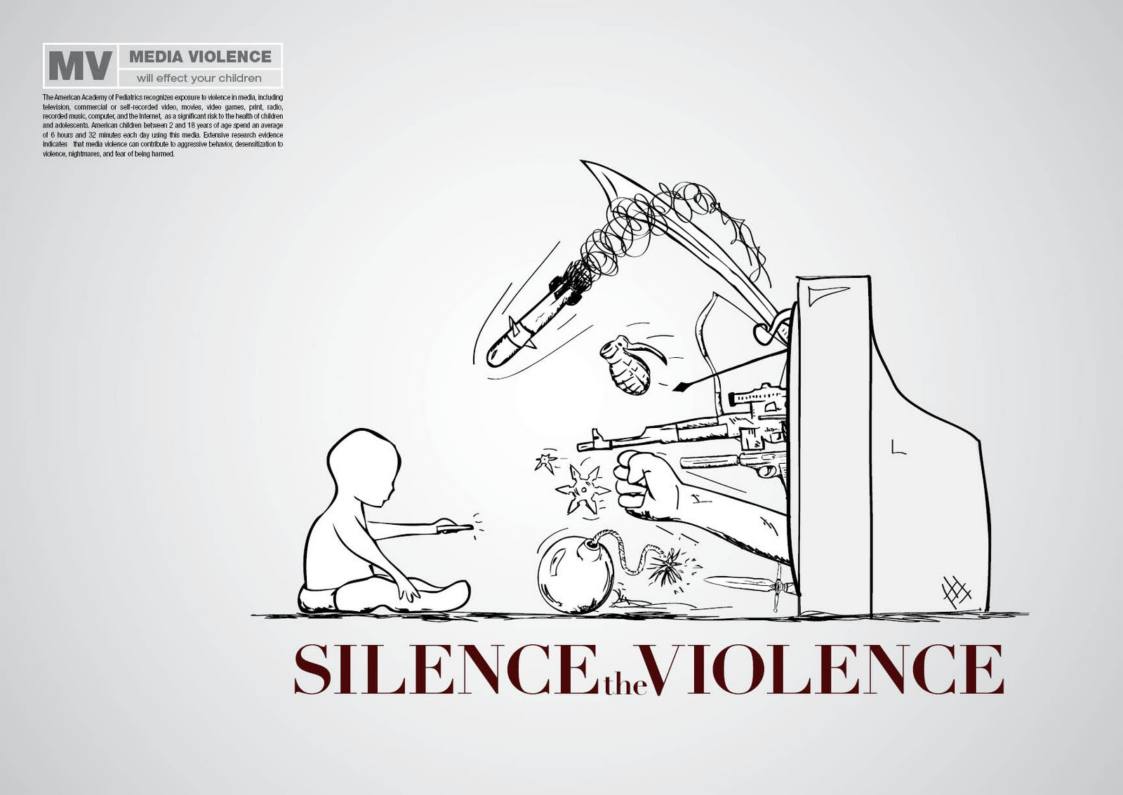 the effects of violence in media on children Sex and violence in the media media is everywhere but there are ways to help protect your children from the harmful effects: monitor what your child is watching set limits on their exposure to tv, radio and video games.