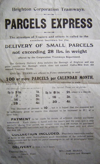 parcels service advert