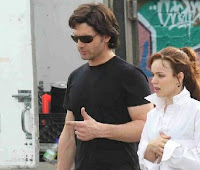 Eric Bana as the time traveler and Rachel McAdams as his wife
