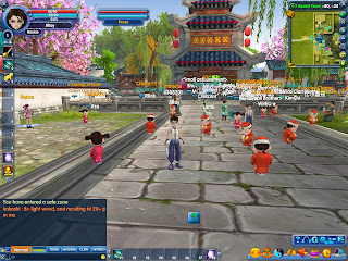 Q-World is a 3-D MMORPG with a cute graphics design and a bright and cheery world. It has state of the art graphics effects with an incredible variety of content from character creation, clothes, accessories, weapons, mounts pets and quests.