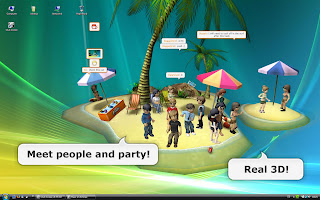 Club Cooee is the new slick 3-D Chatworld Messenger for your Windows Vista and Windows XP desktop. Members have their own rooms that they can decorate according to their personal tastes also running seamless on the desktop. They can embed music, pictures and videos and turn their rooms into an individual multi-media chat environment.