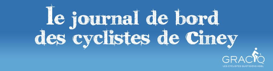 Le journal de bord des cyclistes de Ciney