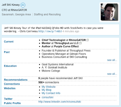 Jeff SKI Kinsey breaks 500 on LinkedIn