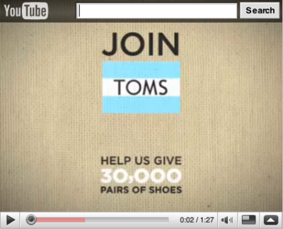 Give Toms shoes this Christmas