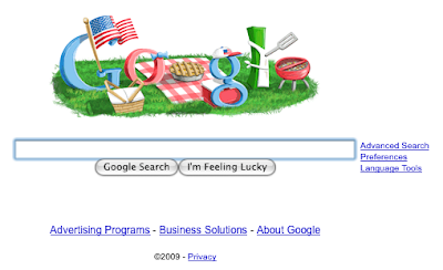google pays tribute to our Fourth of July