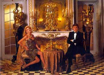 ... , ANNIE. Ivana y Donald Trump en el Hotel Plaza de Nueva York. 1988