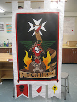 Hand Painted full size Black Templars banner