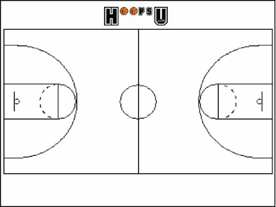 Introduction rectangular lining to enclose the basketball for Small basketball court size