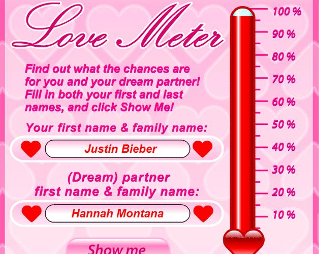 love meter. Romantic Lovemeter