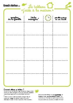 Muslim home school des tableaux organisation imprimer - Organisation maison planning ...