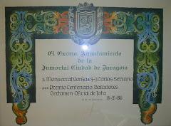 DIPLOMA CERTAMEN OFICIAL 1986