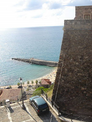 Castello Murat and view of Pizzo Marina