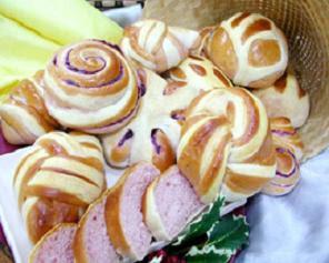 Bread Telo Purple Recipe ( Resep Roti Telo Ungu )