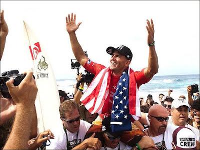 Kelly Slater dez vezes campeão mundial de surfe