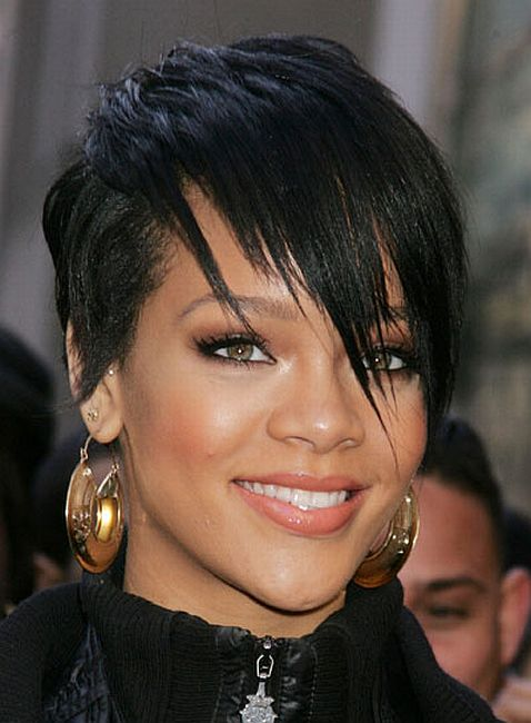 punk rock hairstyle pictures. Rihanna's Punk Rock Short Hairstyle men's cut hair style: Billie Joe