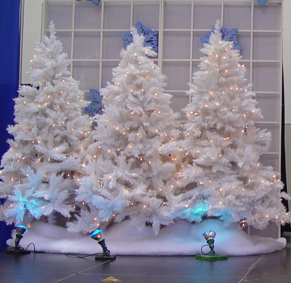 Christmas Trees White Party