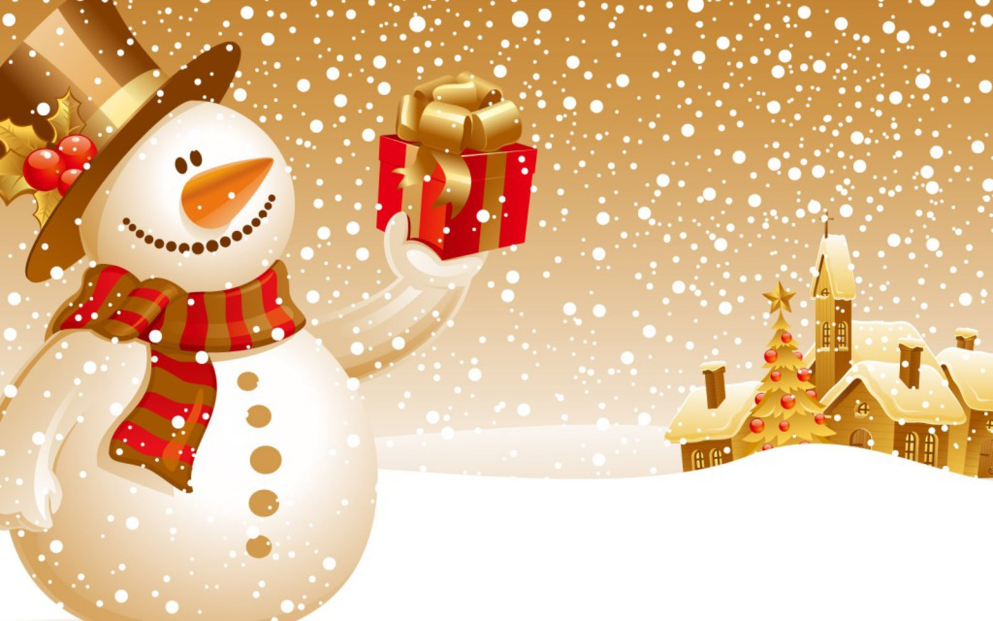 1440 x 900 · 222 kB · jpeg, Cute Merry Christmas Snowman