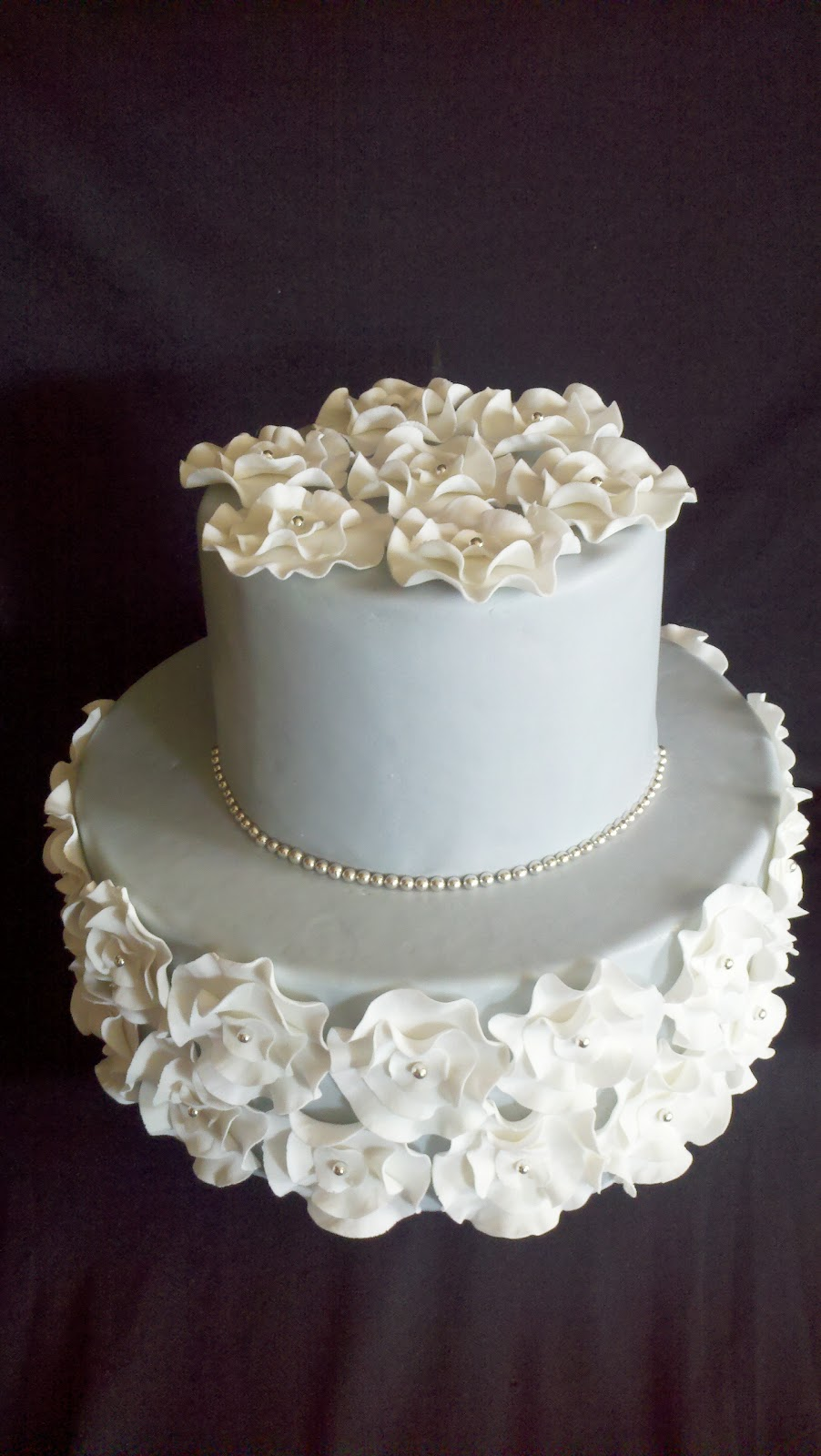 Sweet Cakes Ruffle Flower Simple Wedding