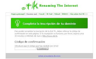 completa la inscripción en tk