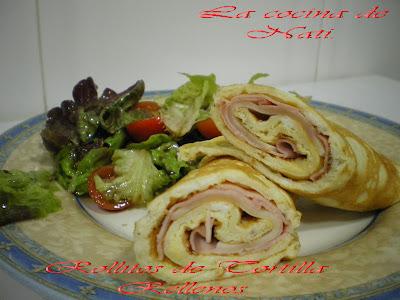 Rollitos de Tortilla rellenos de Verdura