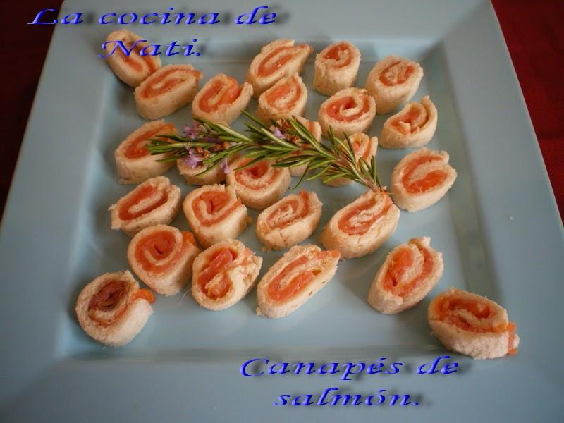 La cocina de nati canapes de salm n for Canapes faciles y ricos