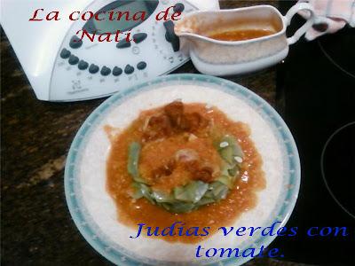 La cocina de nati judias verdes con tomate y bacon - Tiempo coccion judias verdes ...