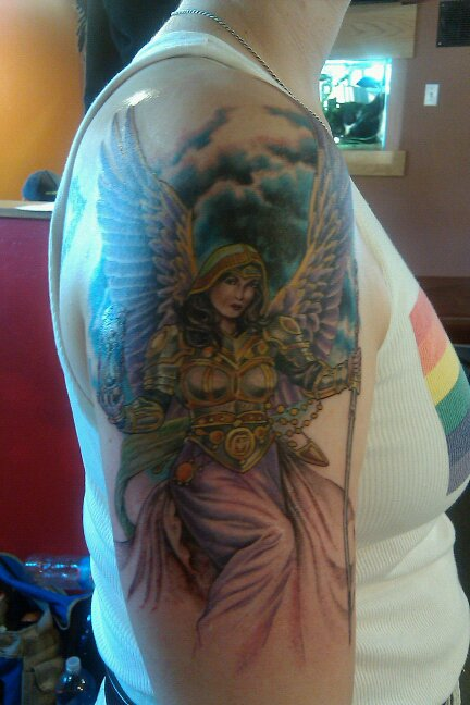 (Artist: Teresa Scoville, Staircase Tattoo, Santa Cruz). Posted by New Tribe