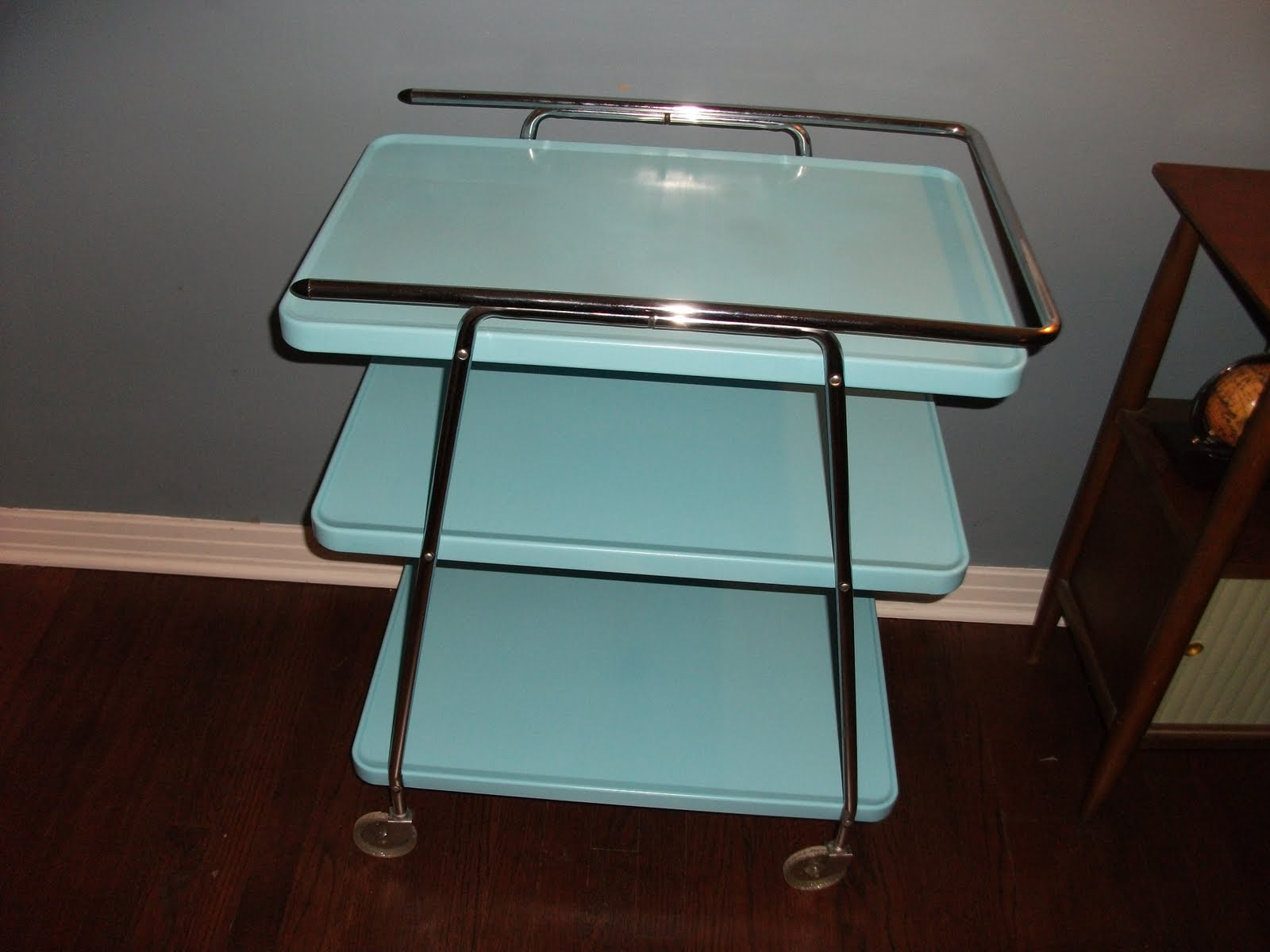 Tall Kitchen Utility Cabinets Living In The Past 50s Cosco Rolling Serving Cart