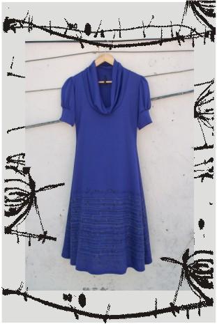 vestido cardo violeta
