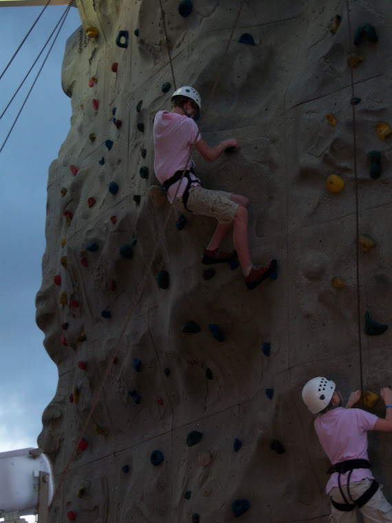 Rock Climbing on the Ship