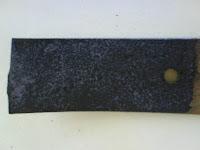 detalle de la pieza después de aplicar el producto para quitar el óxido