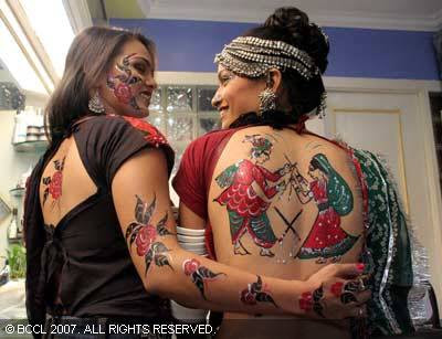New navratri tattoo photo