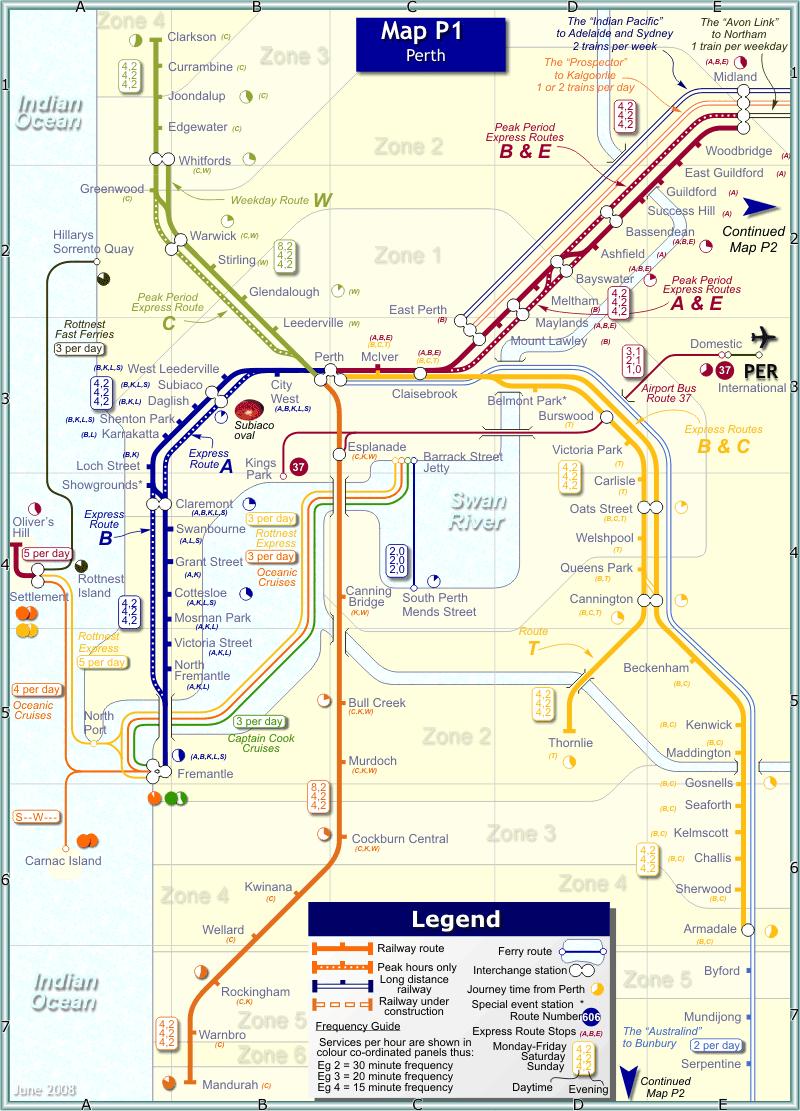 perth rail map australia sydney-#34
