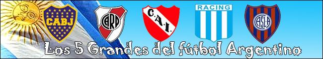 Los cinco grandes del fútbol argentino