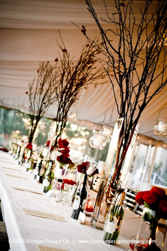 tall wedding centerpieces with candles