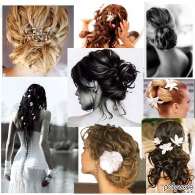 Since these weddings are frequently outdoors you will need a hairstyle that