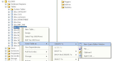 Me my little techie generate ddl of a table using sql right click on the table name and script table as create to new query editor window please look at the below picture ccuart Image collections