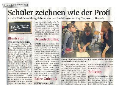 HNA Kassel 5.11.2010 kay treysse an der carl schomburg schule kassel, css kassel