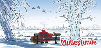 Weihnachtskarte Final mit dem entspannten Alsterweihnachtsmann