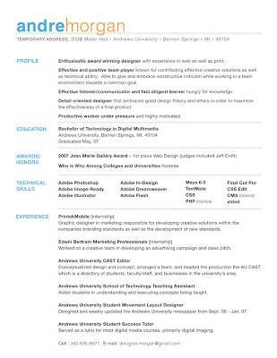 best graphic design resume 04052017