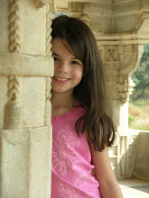 Claire at Ranakpur Temple