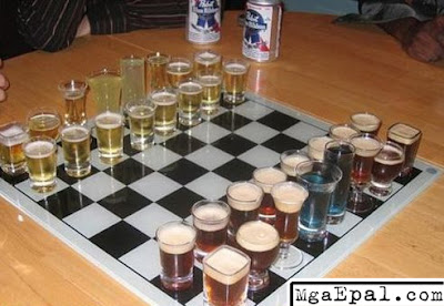 chess, beer chess, alcoholic, drinking game, funny photos, cool, cool images, cool pics, funny beer, beer