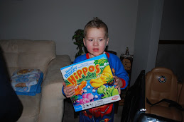 Elijah asked Santa for one thing, and that was Hungry, Hungry Hippo's!!!