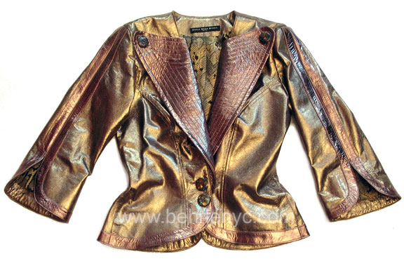 custom made leather jacket for Anastacia
